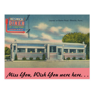 Carte Postale La Pennsylvanie, wagon-restaurant de Keswick,