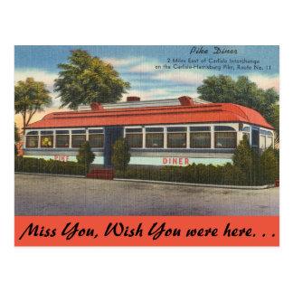 Carte Postale La Pennsylvanie, wagon-restaurant de Pike