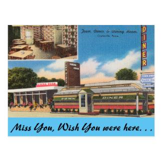 Carte Postale La Pennsylvanie, wagon-restaurant de ville,