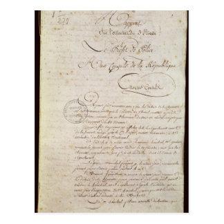 Carte Postale La police rapporte du accompagnant le napoléon