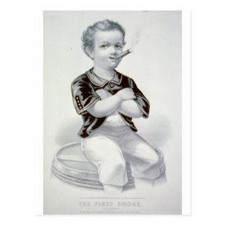 Carte Postale La première fumée 1870