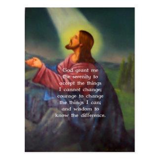 Carte Postale La prière de sérénité avec la peinture de