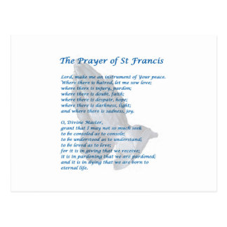 Carte Postale La prière du St Francis