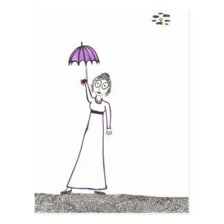 Carte Postale La promenade déplaisante de Jane Austen