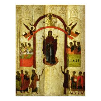 Carte Postale La protection de l'icône de Russe de Theotokos