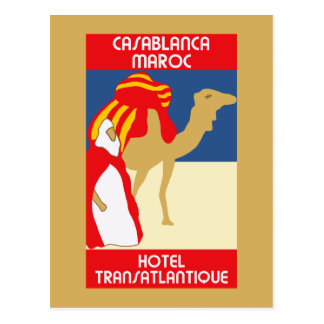 Carte Postale La publicité vintage de voyage de Casablanca des