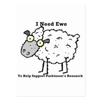Carte Postale La recherche de Parkinson de soutien
