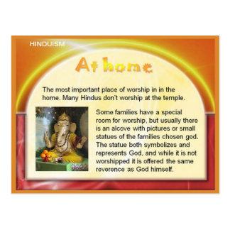 Carte Postale La religion, hindouisme, Inde, adorent à la maison