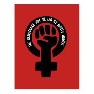 Carte Postale La résistance sera menée par les femmes méchantes