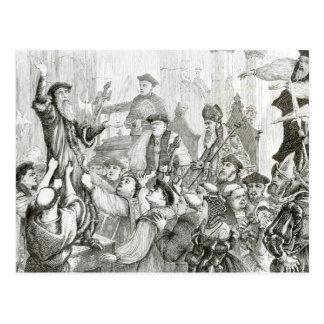 Carte Postale La rétractation d'archevêque Cranmer
