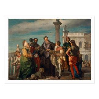 Carte Postale La réunion entre Titian (1488-1576) et Verones