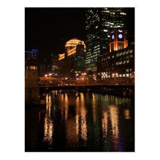 Carte Postale La rivière Chicago