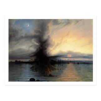 Carte Postale La roche du salut, 1837 (huile sur la toile)
