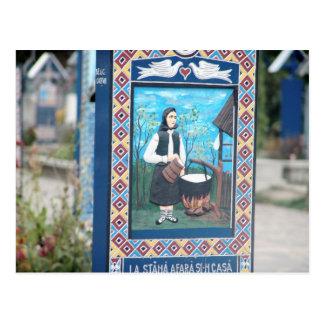 Carte Postale La Roumanie, Marumures, joyeux cimetière,