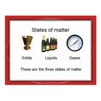 Carte Postale La Science, chimie, états de matière
