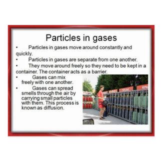Carte Postale La Science, chimie, particules en gaz