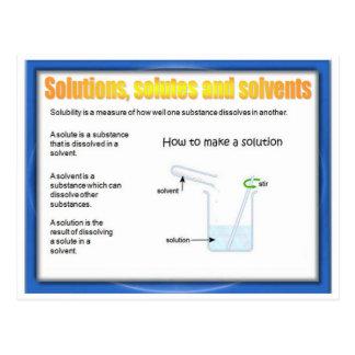 Carte Postale La Science, chimie, solutions, corps dissous,