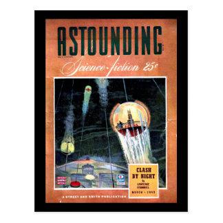 Carte Postale La Science Fiction_ art stupéfiant de _Pulp en