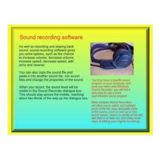 Carte Postale La Science, ondes sonores, bruit de enregistrement