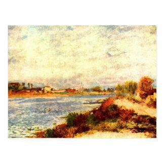 Carte Postale La Seine à Argenteuil par Pierre Renoir