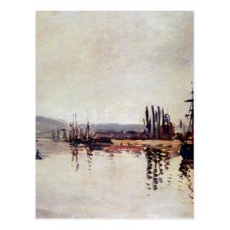 Carte Postale La Seine au-dessous de Rouen par Claude Monet