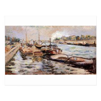 Carte Postale La Seine par Armand Guillaumin