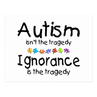 Carte Postale La sensibilisation sur l'autisme n'est pas la
