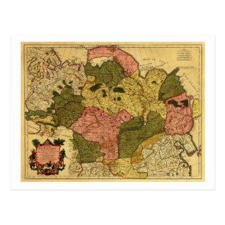 Carte Postale La Sibérie, RussiaPanoramic MapSiberia, Russie