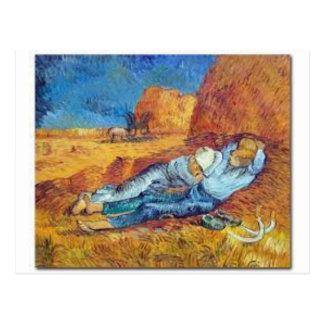 Carte Postale La Sieste de Vincent Van Gogh (Noon)