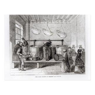 Carte Postale La société de liège de la Chambre de la soupe des