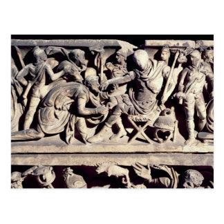 Carte Postale La soumission d'un barbare à un romain