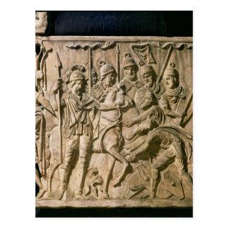 Carte Postale La soumission d'un barbare à une troupe romaine