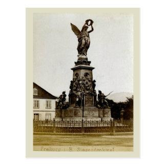 Carte Postale La Suisse 1908, Fribourg, Siegeldenkmal