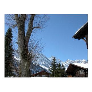 Carte Postale La Suisse, Gimmelwald haut dans les montagnes