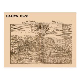 Carte Postale La Suisse historique, Baden 1572