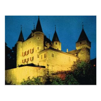 Carte Postale La Suisse vintage, Nyon, château médiéval