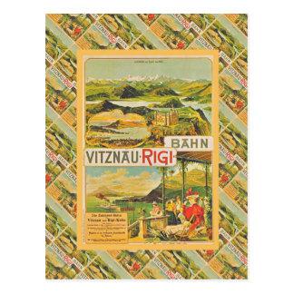 Carte Postale La Suisse vintage, Vitznau Rigi Bahn