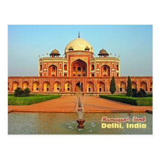 Carte Postale La tombe de Humayun et le jardin, Delhi, Inde