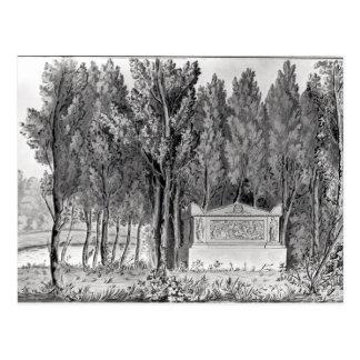 Carte Postale La tombe de Jean-Jacques Rousseau chez