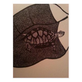 Carte Postale la tortue