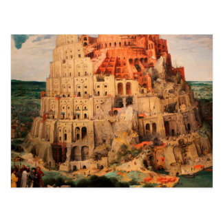 Carte Postale La tour de Babel par Pieter Bruegel l'aîné
