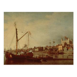 Carte Postale La tour de Londres de la Tamise