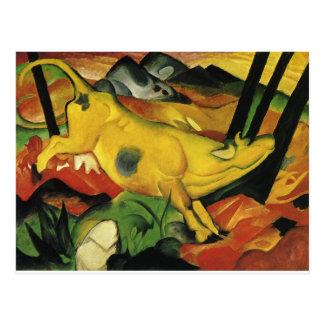 Carte Postale La vache jaune par Franz Marc