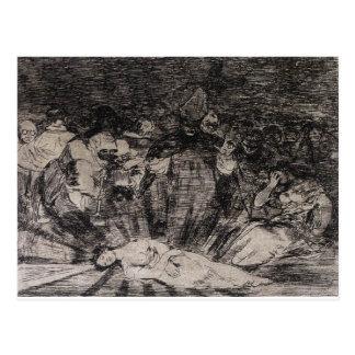 Carte Postale La vérité est morte par Francisco Goya