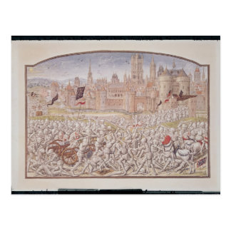 Carte Postale La victoire des habitants de Gand a mené par