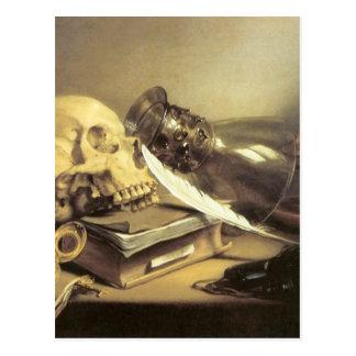 Carte Postale La vie de Pieter Claesz Vanitas toujours