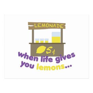 Carte Postale La vie donne des citrons