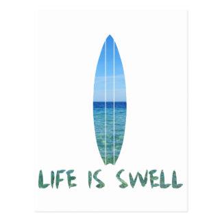 Carte Postale La vie est conception de panneau de surf de bosse