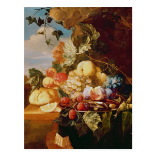 Carte Postale La vie toujours avec le fruit et les fleurs
