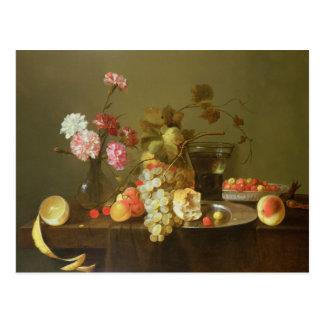 Carte Postale La vie toujours du fruit et des fleurs